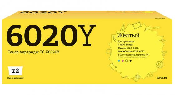 Фото - Картридж T2 TC-X6020Y желтый (yellow) 1000 стр. для Xerox Phaser 6020/6022 / WorkCentre 6025/6027 tc x6500m тонер картридж t2 для xerox