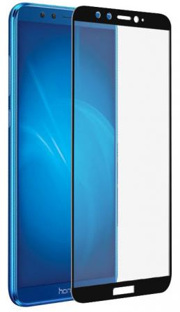 Закаленное стекло с цветной рамкой (fullscreen) для Huawei Honor 9 Lite DF hwColor-36 (black)