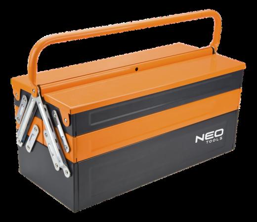 Ящик NEO 84-100 для инструмента металлический 455мм сапоги woodline рысь эва 869у black р 40 41