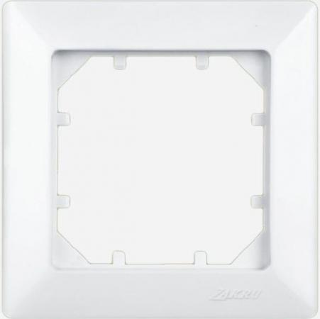 Рамка ZAKRU 600017 CLASICO 1 пост (Белый) пластик
