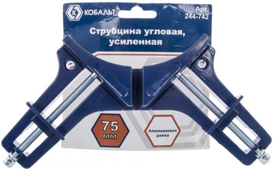 Струбцина КОБАЛЬТ 244-742 угловая 75мм усиленная цена