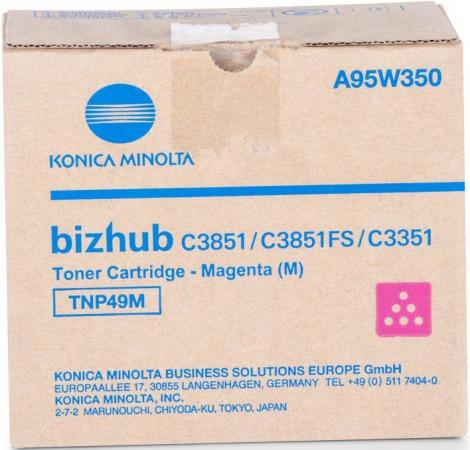 Тонер Konica-Minolta bizhub C3351/C3851 красный TNP-49M