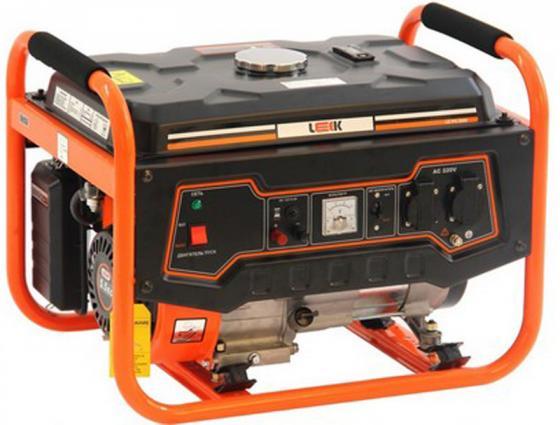 Бензиновый генератор LEEK LE PG 2500 руч./старт-р, 2.5 кВА, 2 кВт, 163 см3, работа 13 ч бензогенератор тсс sgg 2800l квт 2 8 ква 2 8 15 л на 75% без дозаправ ч 10