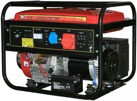 Фото - Бензогенератор КАЛИБР БЭГ-6500А/220/380 7.3 кВа/5.8 кВт, 420 см3, бак 25л, время работы: ч. бензиновая виброплита калибр бвп 13 5500в