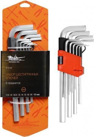 Набор ключей AIRLINE AT-9-19 9 предметов (1.5.2.2.5.3.4.5.6.8.10мм) пласт.подвес набор ключей шестигранных удлиненных airline at 9 18