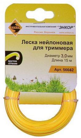 Леска для триммеров ЭНКОР 56662 ф3,0ммх15м круг леска для триммеров fit 77980