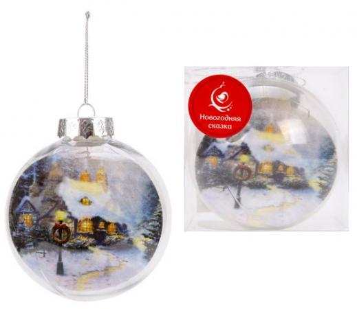 Шар Новогодняя сказка новогодний 8 см цена и фото