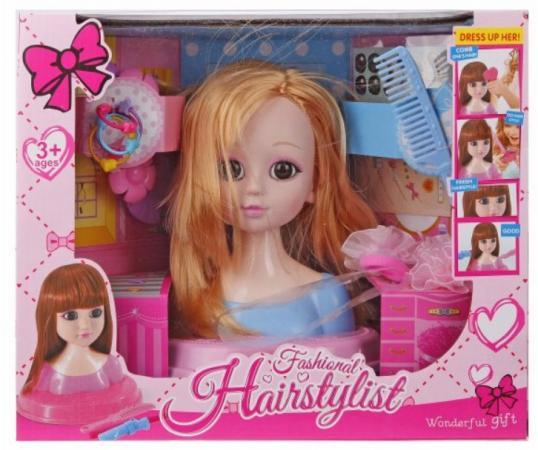 Набор парикмахера Наша Игрушка Бритни блондинка 10 предметов мой выбор клейкая лента 48 мм х 66 м цвет прозрачный