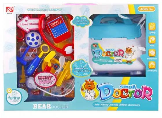 Набор доктора Наша Игрушка Медвежонок-доктор 17 предметов набор доктора ветеринара наша игрушка набор ветеринара 5 предметов 362