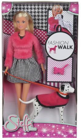 Кукла Штеффи на прогулке с далматинцем 29 см