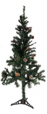 Ель Новогодняя сказка 973324 150 см с шишками ель новогодняя с украшением h 75см упаковочный пакет