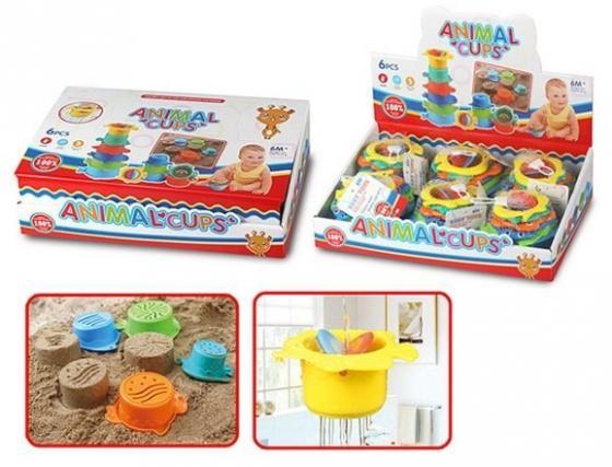 Интерактивная игрушка Наша Игрушка Набор формочек-леек для купания от 6 месяцев интерактивная игрушка жирафики каруселька для купания от 18 месяцев разноцветный 681124