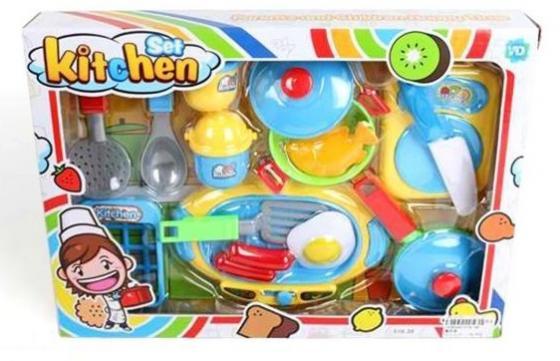 Набор посуды Наша Игрушка Набор кухонной посуды с продуктами набор посуды polaris verona 04s