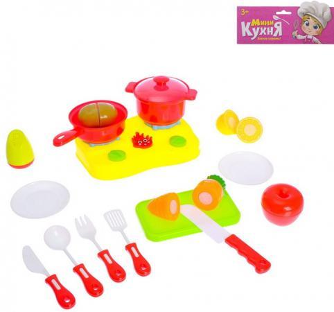 Набор посуды Наша Игрушка Учимся готовить пластик набор посуды наша игрушка для чаепития пластик