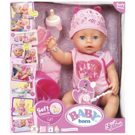 Кукла ZAPF Creation BABY born 43 см писающая пьющая плачущая