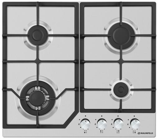 Варочная панель газовая Maunfeld EGHS.64.43CS/G серебристый газовая варочная панель maunfeld eghs 64 33cs g