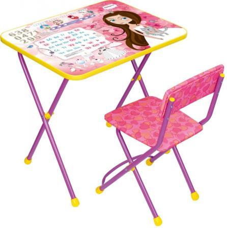 Комплект стол+стул Ника Познайка 2 Маленькая принцесса набор мебели ника маленькая принцесса су 1 4