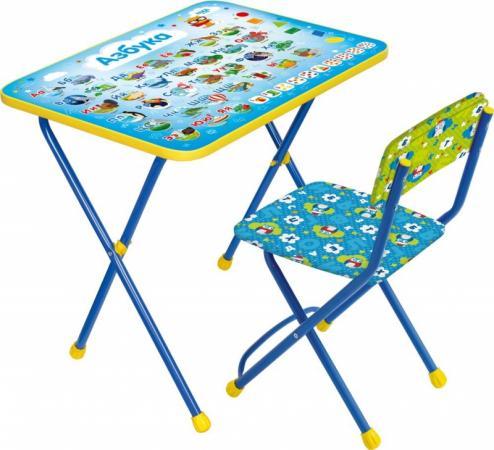 Комплект стол+стул Ника Познайка 2 Азбука стол складной ника водостойкий пластик 100x50 cм