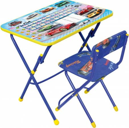 Комплект стол+стул Ника Умничка 1 Большие гонки набор мебели nika умничка стол стул большие гонки кну1 0283ку1 15