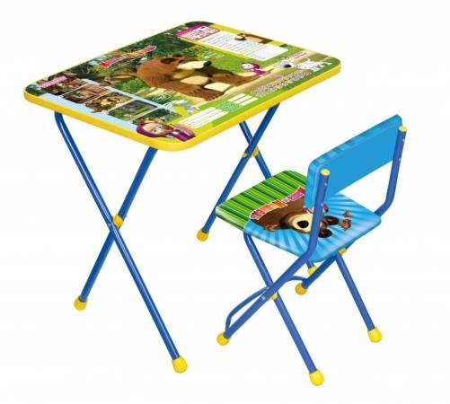 Комплект стол+стул Ника Познайка 2 Позвони мне Маша и Медведь ника 0438 2 9 51