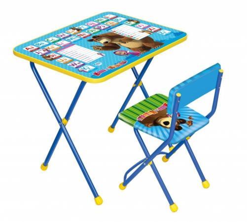 Комплект стол+стул Ника Познайка 2 Английская азбука Маша и Медведь все цены