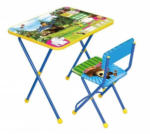 Комплект стол+стул Ника Познайка 2 Ловись рыбка Маша и Медведь цена