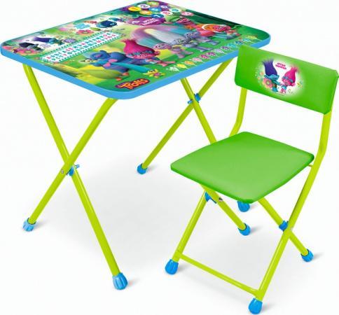 Стол-стул НИКА Trolls Стол-Стул Тролли, зеленый КHT-0822T-2 ника складной стол са1 алина ника бук