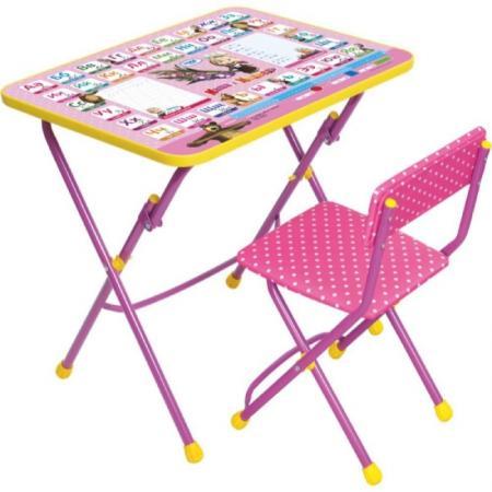 Комплект стол+стул Ника Умничка 1 Азбука 3 Маша и Медведь набор мебели ника маша и медведь умничка ку1 3 су1 13