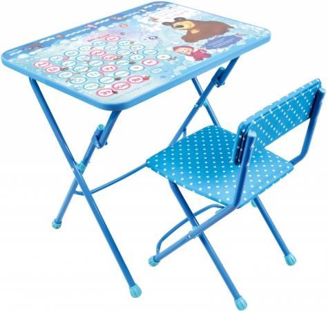 Комплект стол+стул Ника Умничка 1 Азбука 4 Маша и Медведь полимербыт красный стол азбука
