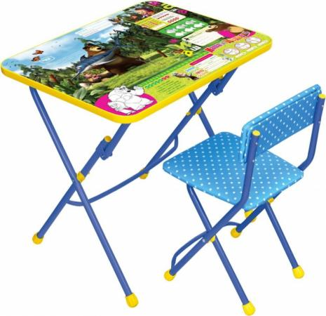 Комплект стол+стул Ника Умничка 1 Ловись рыбка Маша и Медведь ника 1041 0 1 61 ника