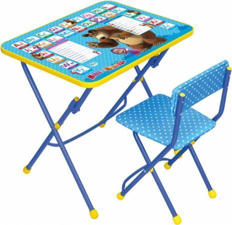 Комплект стол+стул Ника Умничка 1 Английская азбука Маша и Медведь ника 1041 0 1 61 ника