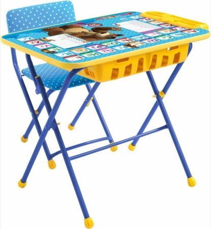 Комплект стол+стул Ника Умничка 2П Английская азбука Маша и Медведь столы и стулья ника набор мебели маша и медведь стол парта мягкий стул