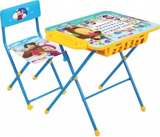 Комплект стол+стул Ника Умничка 2П Азбука 4 Маша и Медведь комплект стол стул ника умничка 2п позвони мне маша и медведь