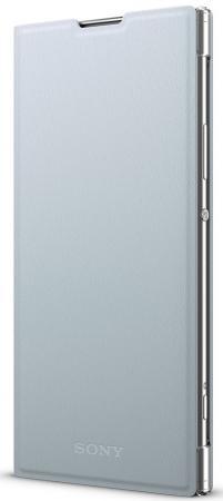 Чехол Sony Оригинальный чехол STAND COVER (чехол-подставка) для Xperia XA2 Plus Цвет: серебристый чехол sony touch cover white для xperia xz