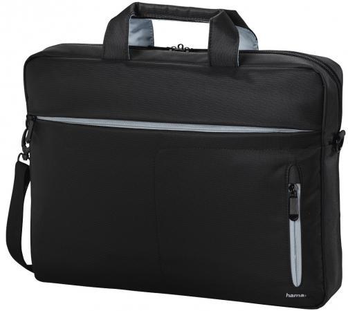 """Сумка для ноутбука 17.3"""" HAMA Marseille полиэстер черный серый 00101784"""