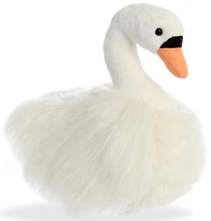 Мягкая игрушка лебедь Aurora 25 см белый текстиль пластик наполнитель плюш мягкая игрушка овечка aurora 18 см белый фиолетовый текстиль наполнитель