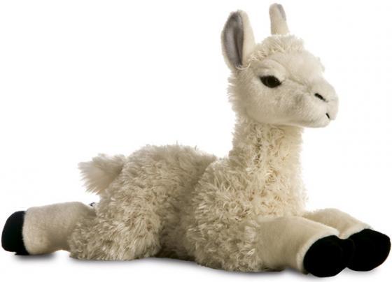 Мягкая игрушка лама Aurora 30 см белый текстиль пластик наполнитель плюш мягкая игрушка овечка aurora 18 см белый фиолетовый текстиль наполнитель