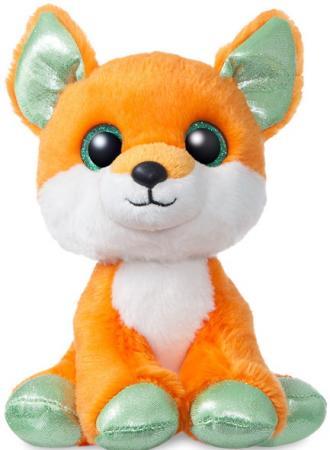 цены Мягкая игрушка лисица Aurora 18 см пластик текстиль плюш