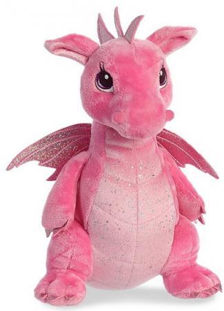 Мягкая игрушка дракон Aurora 30 см розовый пластик синтепон плюш мягкая игрушка бегемотик оранж жорик плюш синтепон серый 30 см мс1983 30