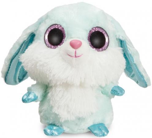 Мягкая игрушка заяц Aurora Юху и друзья 12 см голубой текстиль пластик синтепон мягкая игрушкаюху голубой