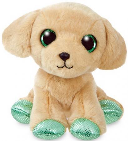 Мягкая игрушка Лабрадор Aurora 18 см бежевый пластик текстиль наполнитель плюш
