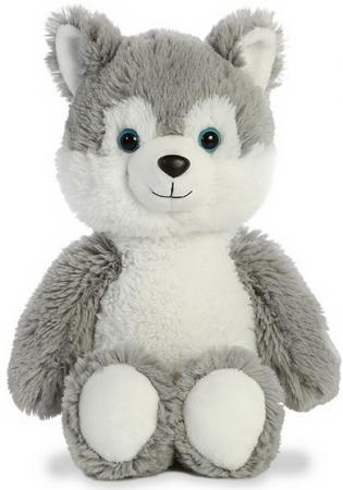 Мягкая игрушка хаски Aurora Cuddly Friends 30 см белый серый текстиль пластик плюш aurora мягкая игрушка aurora cuddly friends лама 30 см