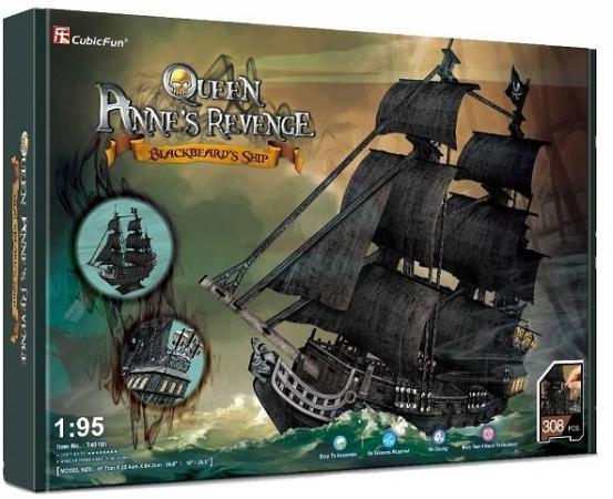 Корабль Cubicfun Корабль Месть королевы Анны 308 шт черный cubicfun 3d пазл cubicfun корабль месть королевы анны