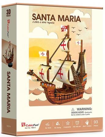 Корабль Cubicfun Корабль Санта Мария 93 шт коричневый сборная модель zvezda корабль санта мария 6510