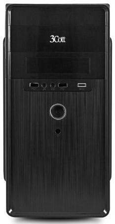 Корпус 3Cott 3C-MATX-S301, Black, mATX, блок питания 450 Вт, выходы USB 2.0x2, Audio+Mic, материал шасси SPCC толщиной 0.5mm