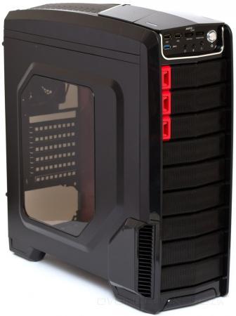 Купить Корпус Aerocool GT-A Black, ATX, без БП, док-станция для 2.5 /3.5 HDD, толщина 0, 6мм, 1хUSB3.0/2хUSB2.0, 185х485х475мм (ШxВxД), Сталь