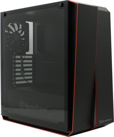 Корпус Silverstone RedLine [SST-RL07B-G] , ATX, без БП (ATX), закаленное стекло, цвет черный корпус silverstone case ss grandia gd06b black sst gd06b