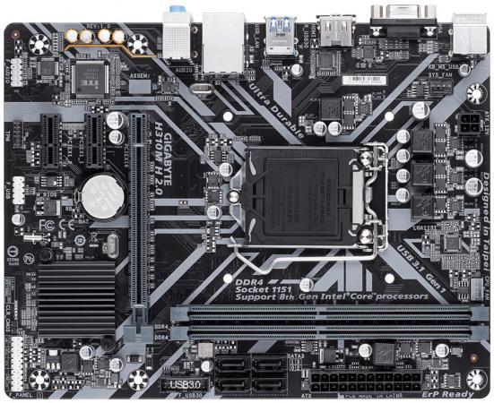 Материнская плата GigaByte H310M H 2.0 Socket 1151 v2 H310 2xDDR4 1xPCI-E 16x 2xPCI-E 1x 4 mATX Retail цена