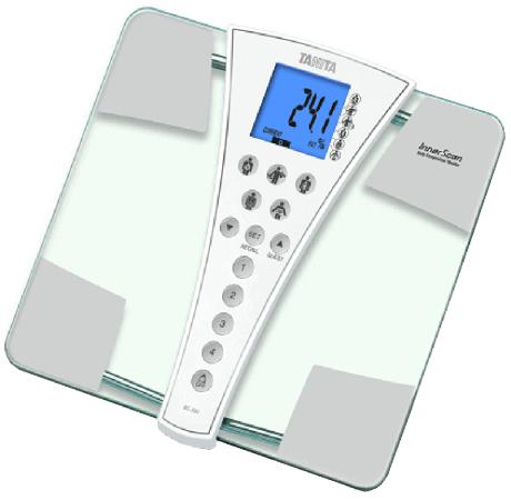 Весы напольные Tanita BC-587 серый белый алкотестер tanita hc 207