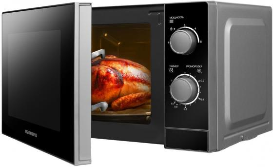 Микроволновая печь Redmond RM-2001 700 Вт серебристый чёрный микроволновая печь lg mb 40r42ds 700 вт серебристый